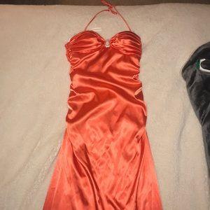 Dresses & Skirts - Long orange formal gown